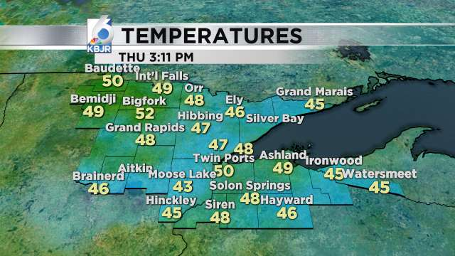 Forecast and conditions - KBJR 6